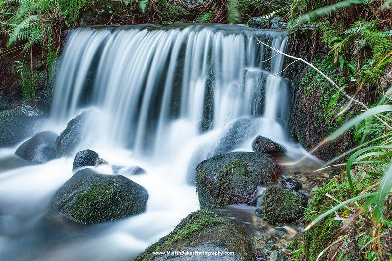 Waterfall, Kilbroney Forest, Rostrevor, Carlingford Lough, Down, Northern Ireland.