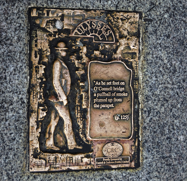 James Joyce pavement plaque, Dublin, 12 January 2009