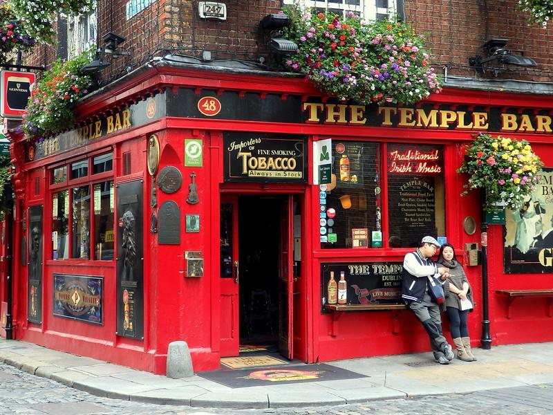The Temple Bar in Temple Bar, Dublin