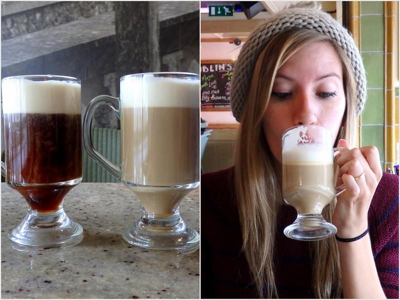 Trying Irish Coffee and Bailey's Irish Cream Coffee