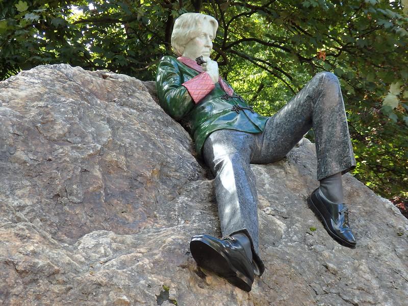 Statue of Oscar Wilde in Dublin, Ireland