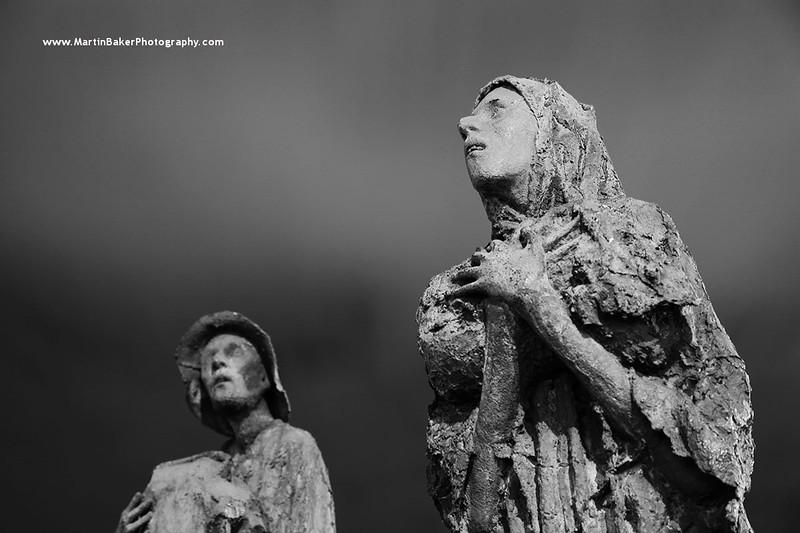 The Famine Memorial (by Rowan Gillespie), Docklands, Dublin, Ireland.