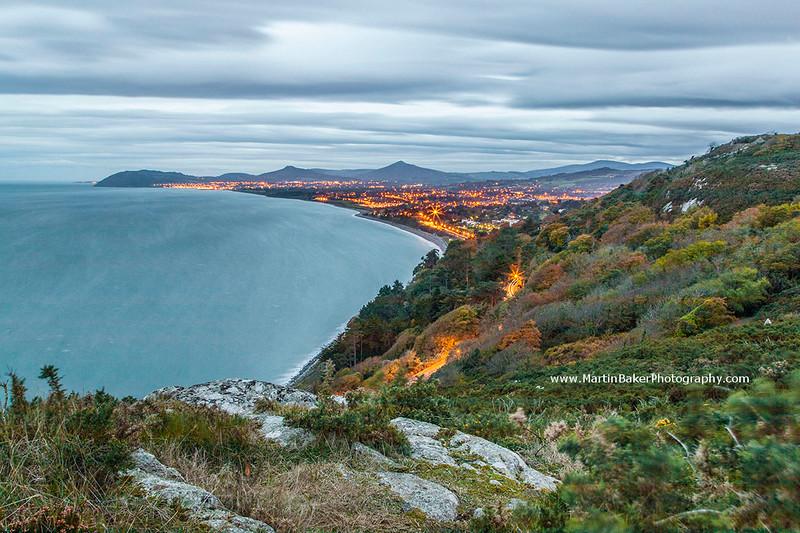 Killiney Bay and Wicklow Mountains, Dublin, Ireland.