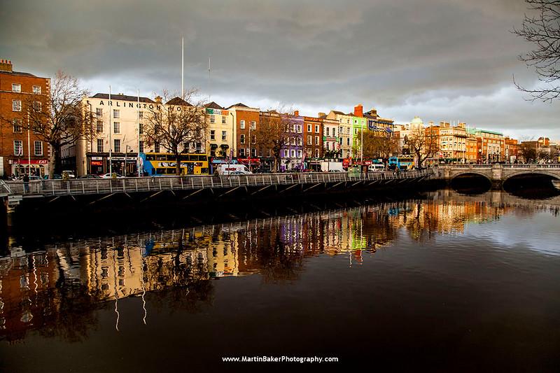 Bachelors Walk and River Liffey, Dublin, Ireland.