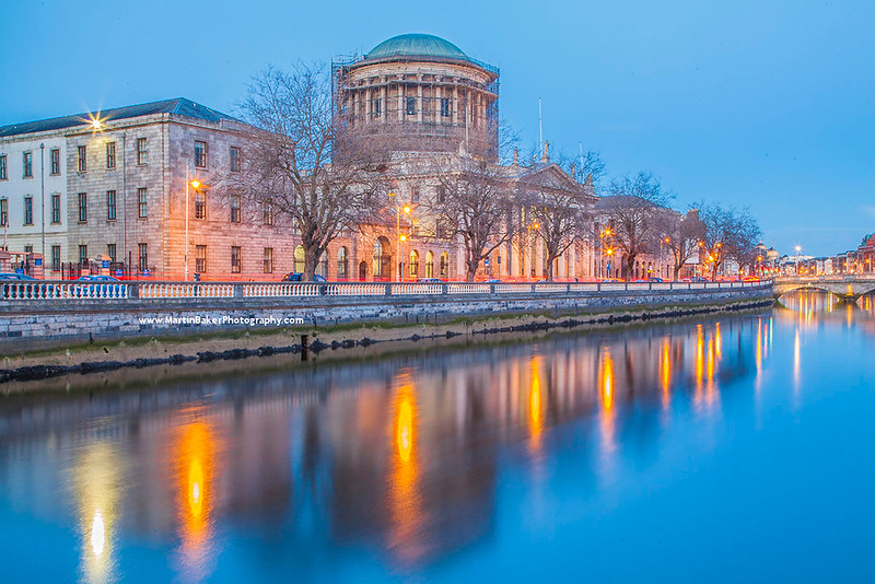 The Four Courts and River Liffey, Dublin, Ireland.