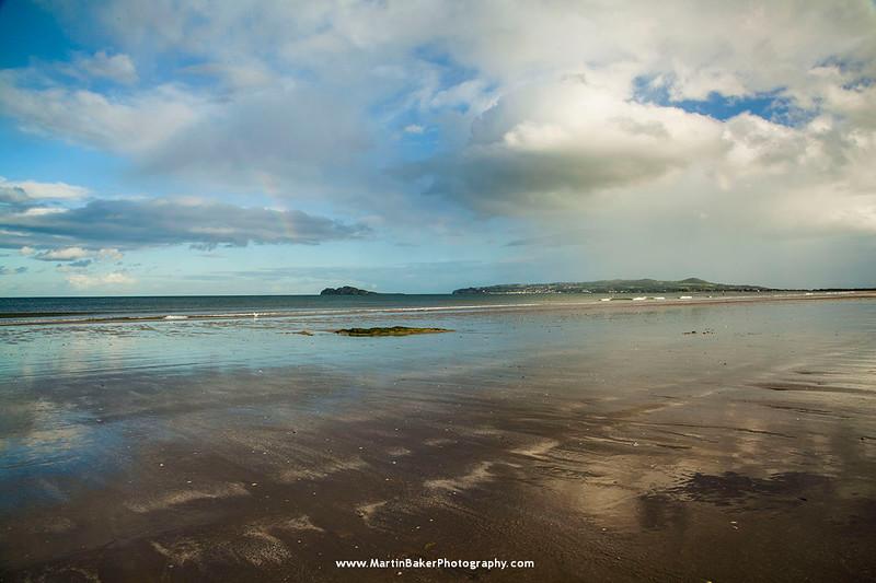 Portmarnock Beach (The Velvet Strand), Ireland's Eye and Howth, Dublin, Ireland.