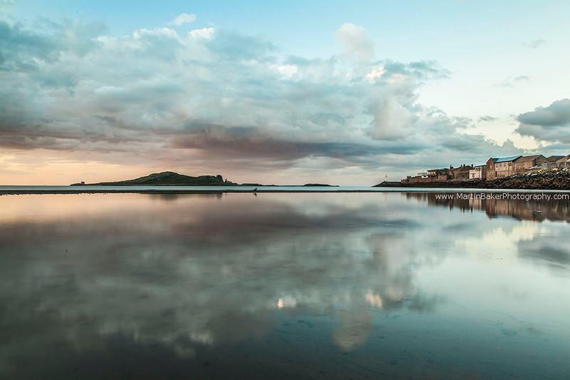 Ireland's Eye and Howth, Claremont Beach, Dublin, Ireland.