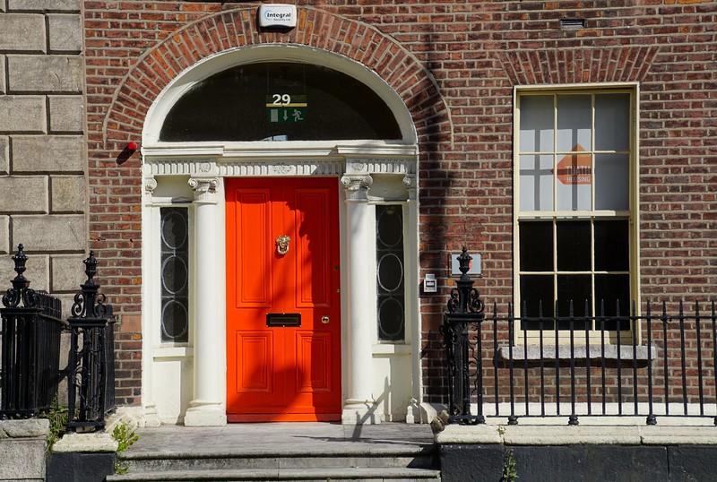 Bright doors in Dublin