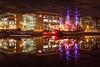 The Jeanie Johnston and River Liffey, Docklands, Dublin, Ireland.