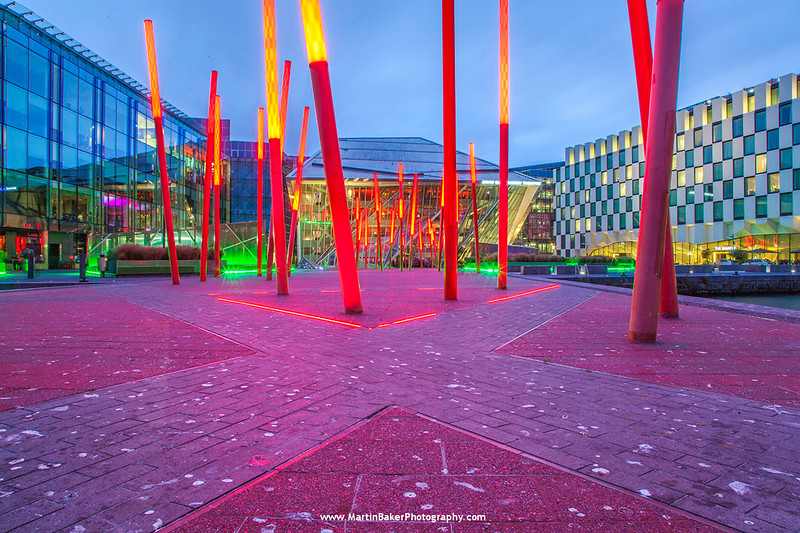 Grand Canal Square, Docklands, Dublin, Ireland.