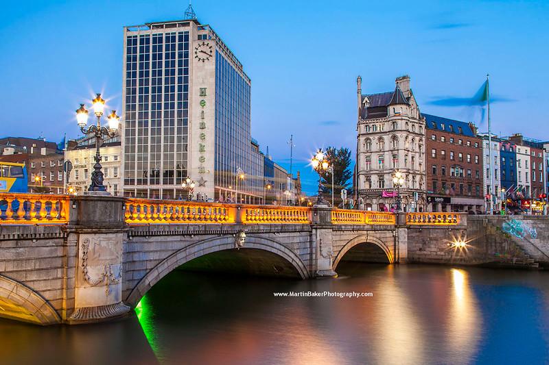 O'Connell Bridge, Dublin, Ireland.
