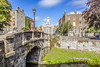 Grand Canal and Pepper Canister (St. Stephen's Church), Dublin, Ireland.