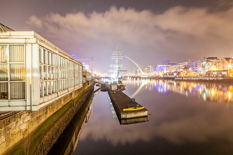 River Liffey, Docklands, Dublin, Ireland.