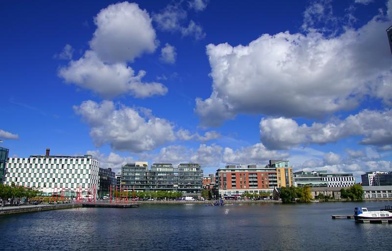 Blue skies in Dublin.