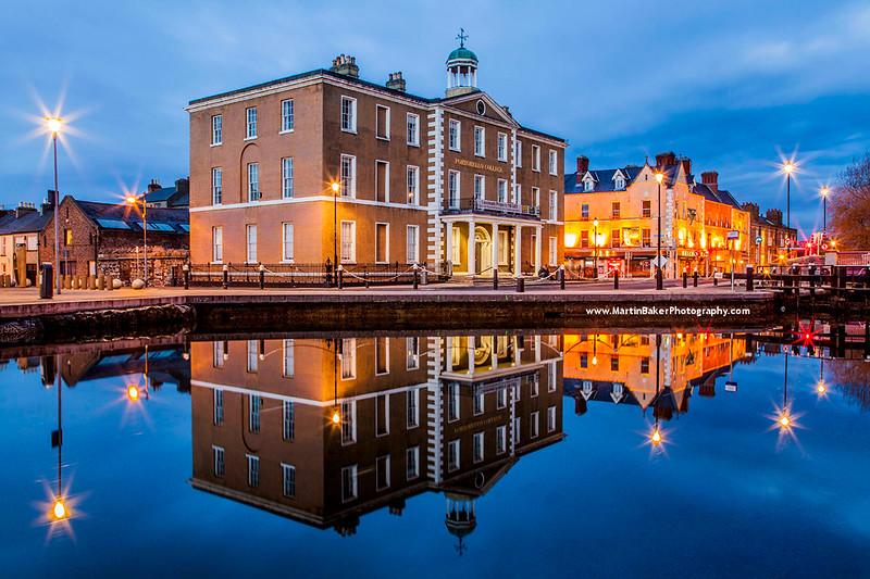 Portobello Bridge and Harbour, Grand Canal, Dublin, Ireland.