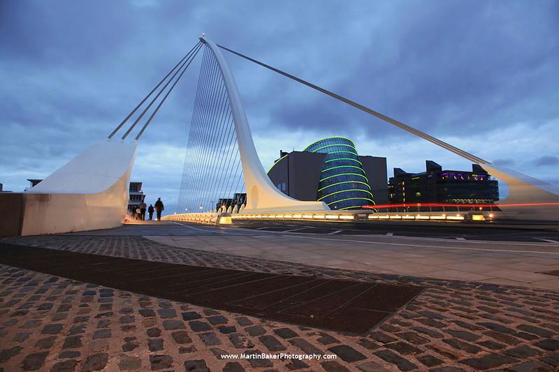 Samuel Beckett Bridge and Convention Centre, Dublin, Ireland.