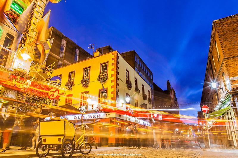 Fleet Street, Temple Bar, Dublin, Ireland.