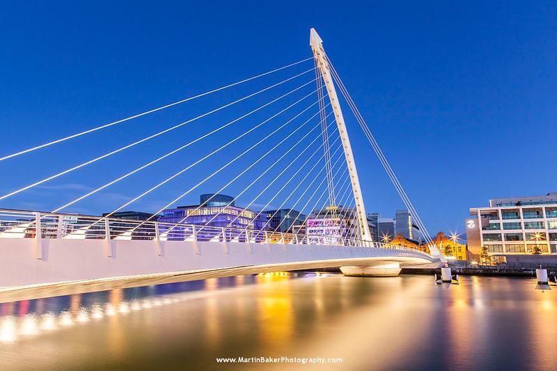 Samuel Beckett Bridge, Docklands, Dublin, Ireland.