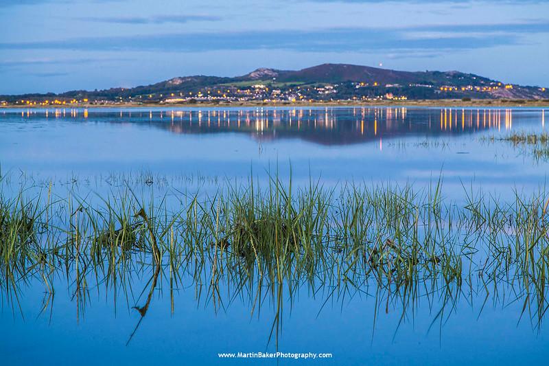 Howth (view from North Bull Island), Dublin, Ireland.