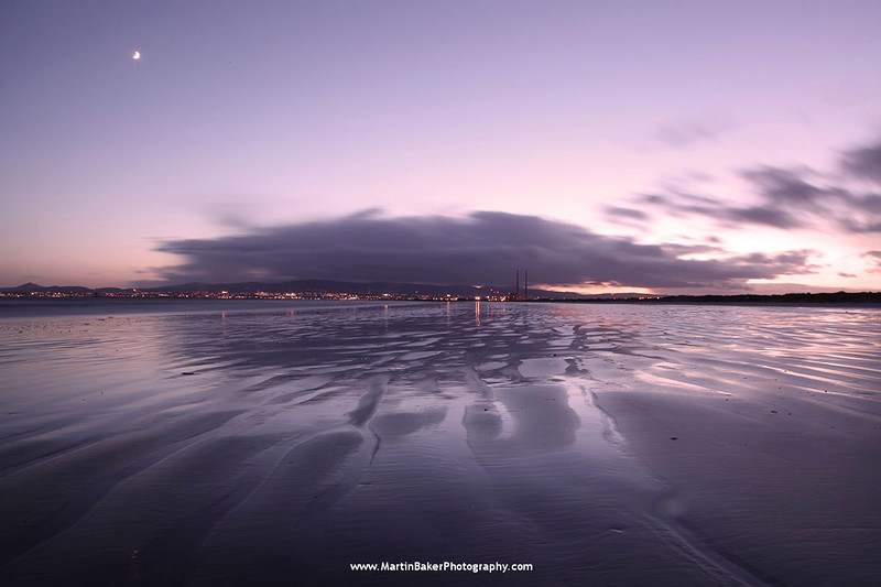 Dublin Bay, View from North Bull Island, Dublin, Ireland.