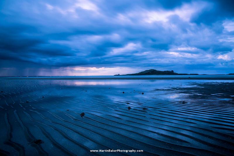 Ireland's Eye and Claremont Beach, Howth, Dublin, Ireland.