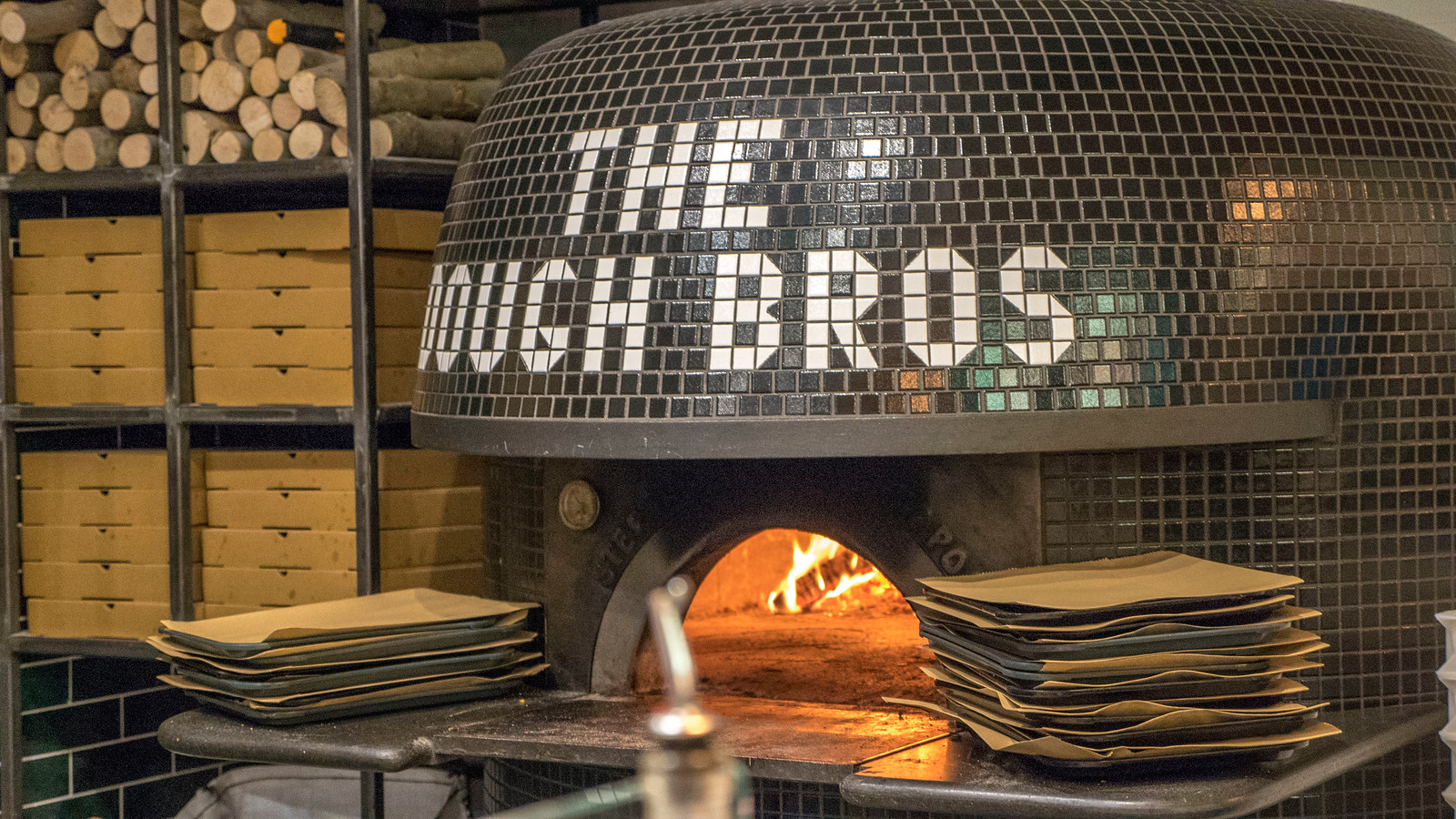 The Dough Bros wood fired pizza oven - Vegan Galway Restaurant and Dining Guide