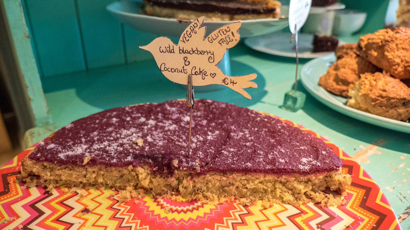 Cake at The Lighthouse Cafe in Galway - Vegan Galway Restaurant and Dining Guide