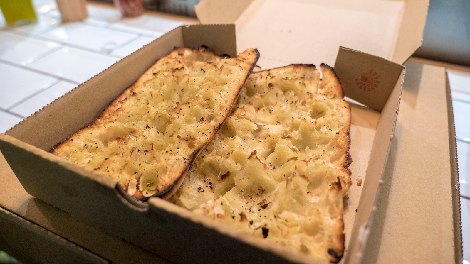 Vegan Garlic bread from The Dough Bros - Vegan Galway Restaurant and Dining Guide