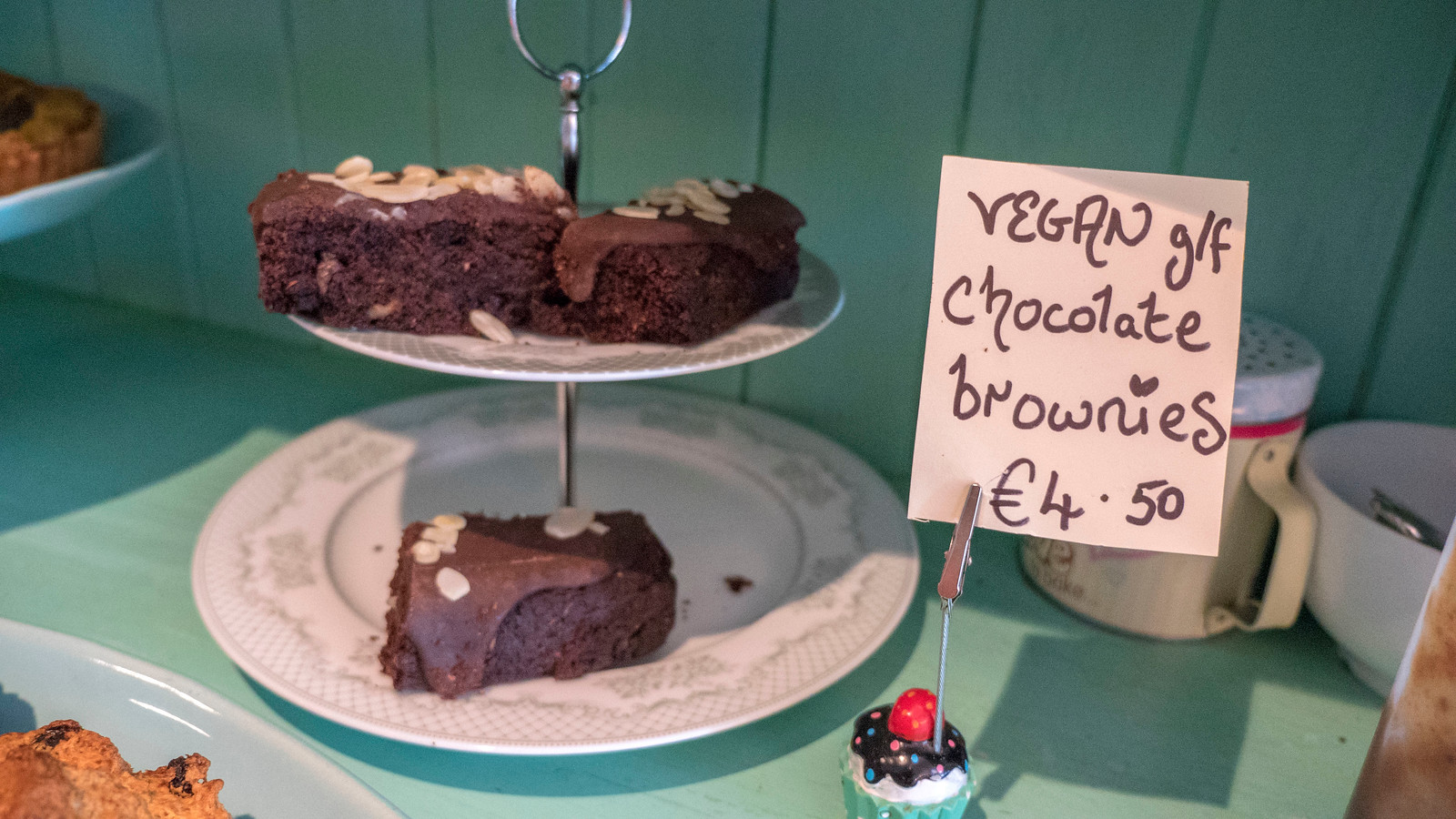 Vegan brownies at Lighthouse Cafe, Galway - Vegan Galway Restaurant and Dining Guide