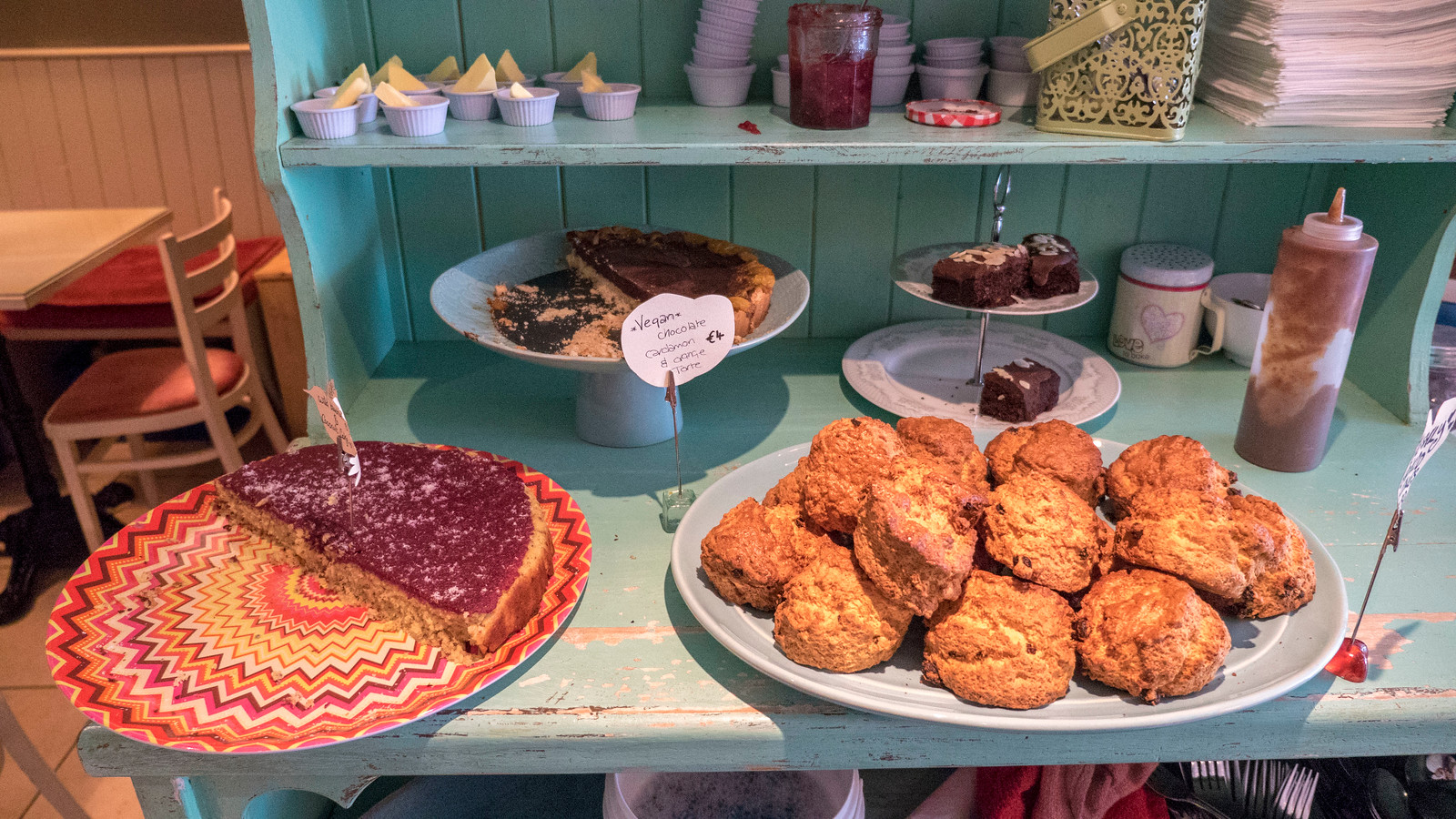 Desserts at Lighthouse Cafe, Galway - Vegan Galway Restaurant and Dining Guide
