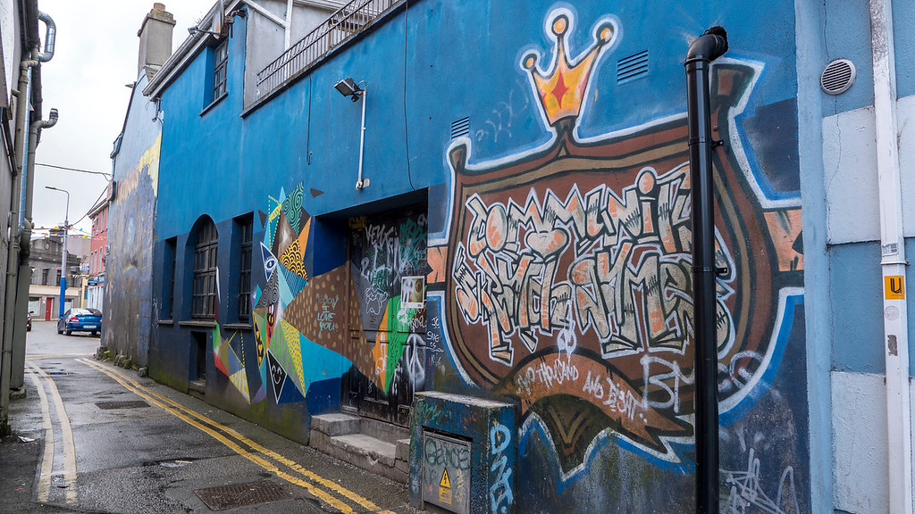 Street art in Galway Ireland - Colorful murals in Galway