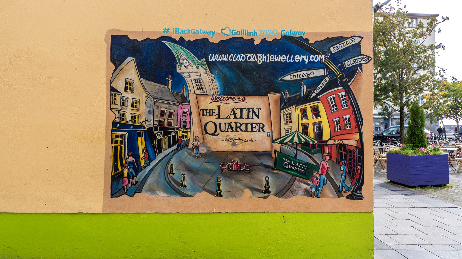 The Latin Quarter mural in Galway Ireland