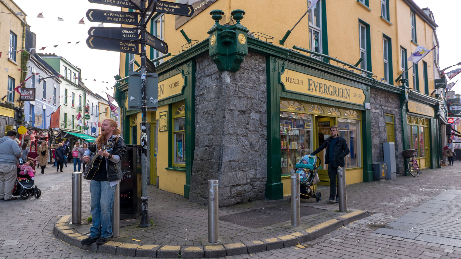 Top things to do in Galway - The Latin Quarter - Musicians performing on Quay Lane