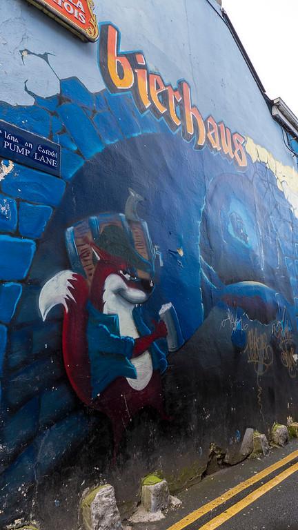Street art in Galway Ireland - Colorful murals in Galway