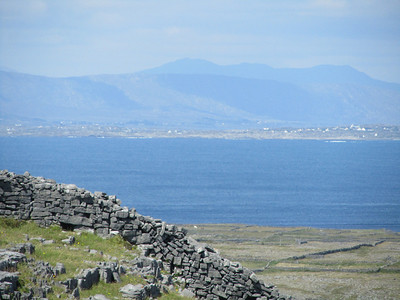 Twelve Pins mountains from Inishmore