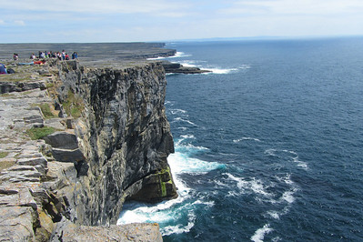 The cliffs near Dun Aengus on the Aran Islands