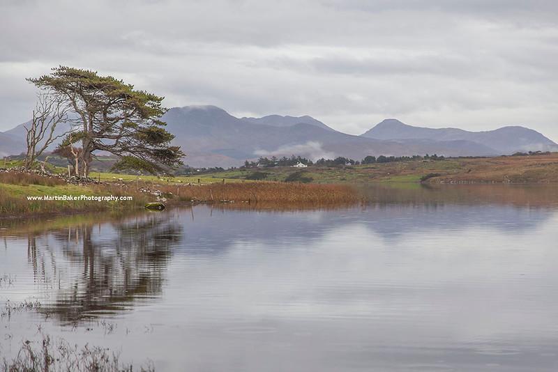The Twelve Bens and Ballynakill Lough, Connemara, Galway, Ireland.