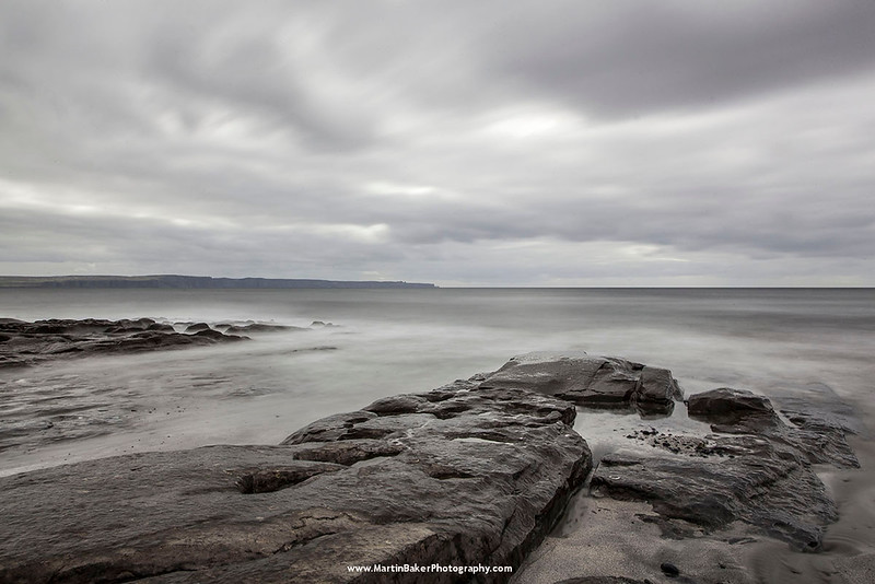Cliffs of Moher, Clare.  View from Inisheer, Aran Islands, Galway, Ireland.
