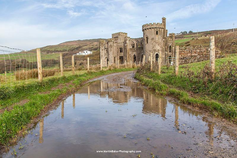 Clifden Castle, Clifden, Connemara, Galway, Ireland.