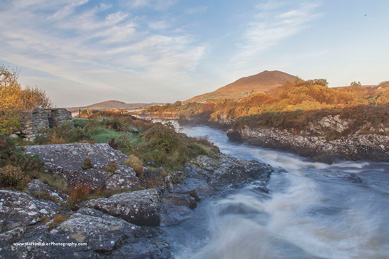 Tully Mountain and Dawros River, Connemara, Galway, Ireland.