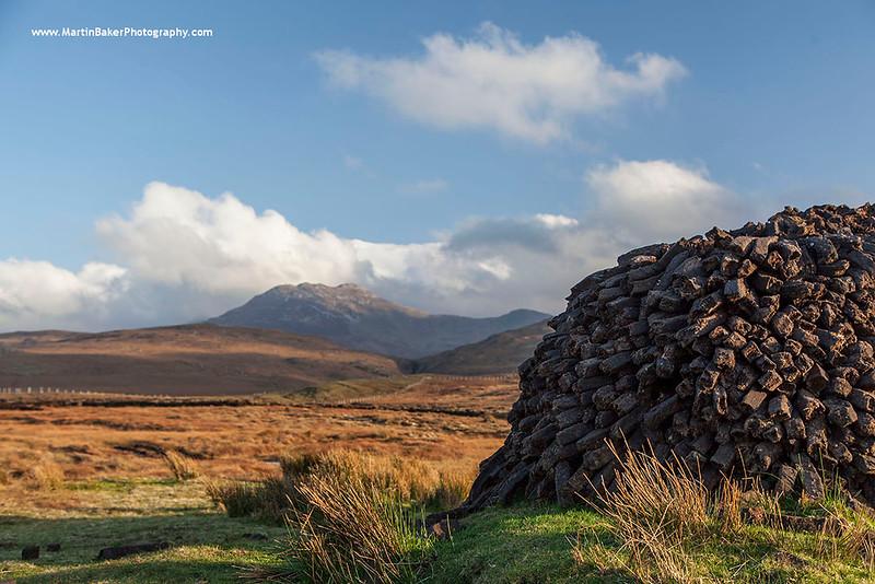 The Twelve Bens, Baunoge, Letterfrack, Connemara, Galway, Ireland.