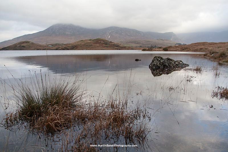 The Twelve Bens and Ballynahinch Lake, Connemara, Galway, Ireland.