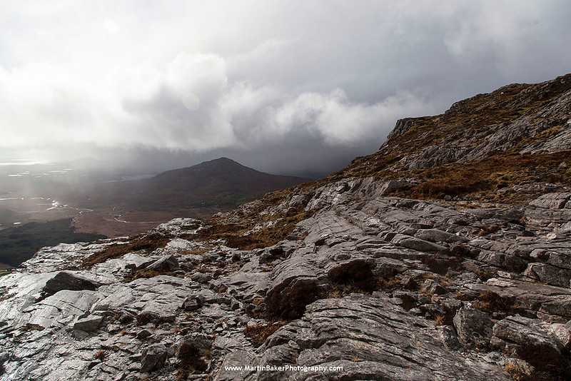 The Maamturk Mountains and Tawnaghmore, Connemara, Galway, Ireland.