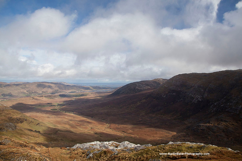 The Maamturk Mountains and Maumeen Valley, Connemara, Galway, Ireland.
