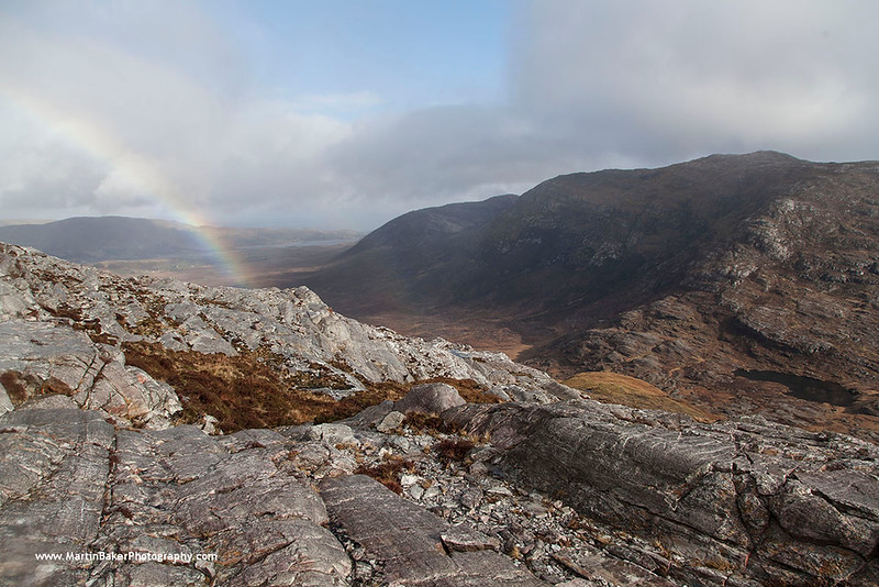 The Maamturk Mountains and Maumeen Valley, Galway, Ireland.