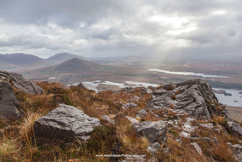 The Maumturk Mountains (view from Twelve Bens), Connemara, Galway, Ireland.