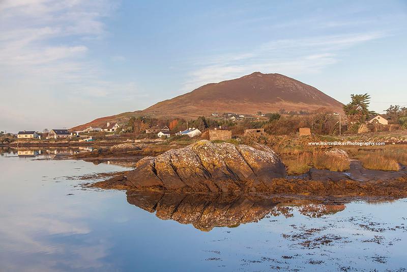 Tully Mountain and Ballynakill Harbour, Connemara, Galway, Ireland.