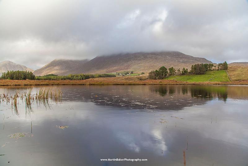 The Maumturk Mountains, Lissoughter, Recess, Connemara, Galway, Ireland.