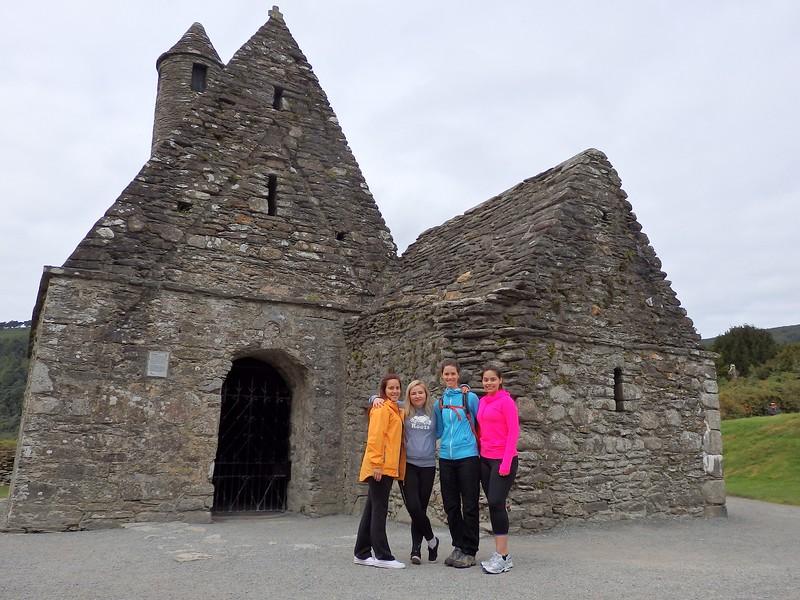 Visiting the monastic ruins in Glendalough