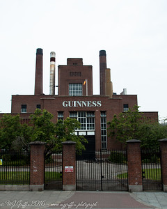 A view of the outside of a small portion of the Guinness factory.